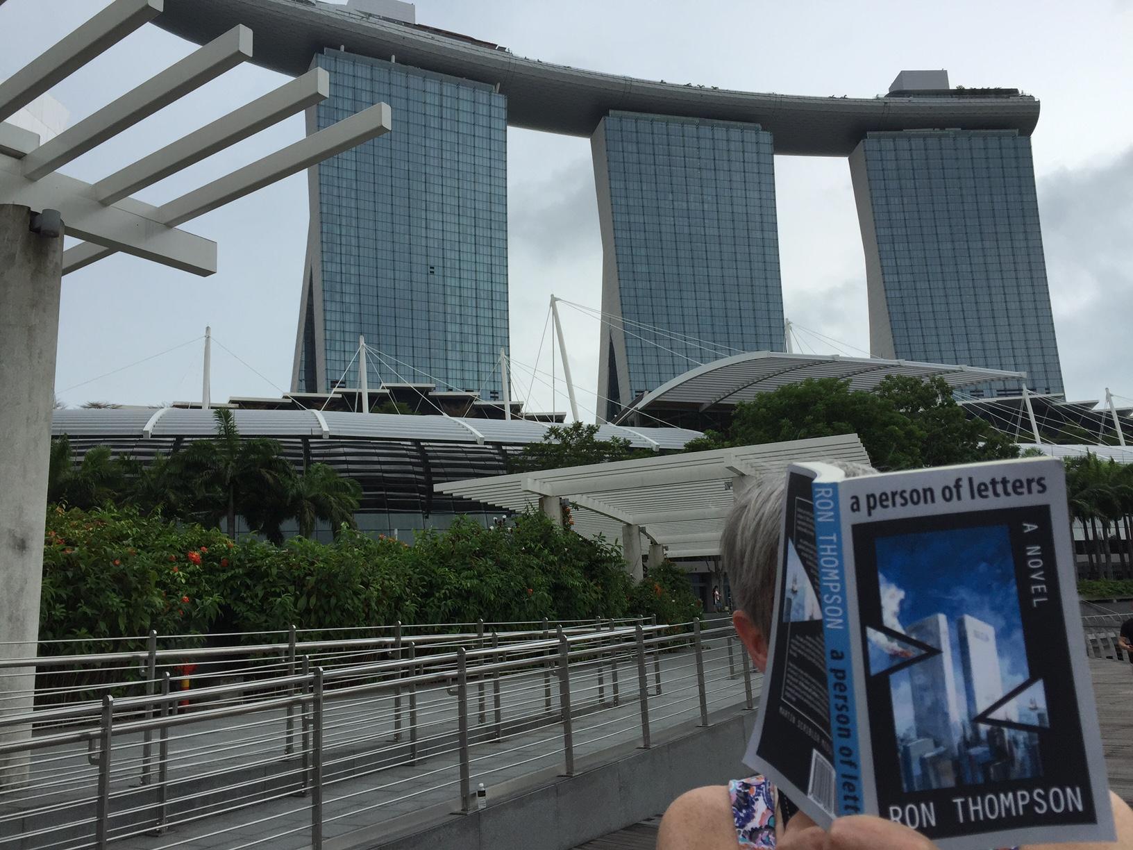 APOL Singapore, LesleyA reading, Sands in bkgrd